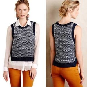 Anthropologie Moth Kana Knit Vest size XL
